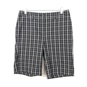 Anne Klein Sport Shorts - Anne Klein Sport Stretch Bermuda Plaid Shorts EUC